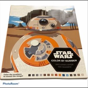🍀Star Wars Color by Number Coloring Book